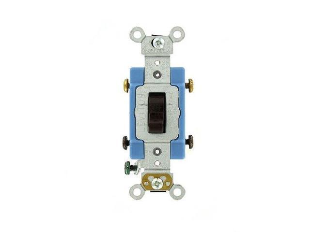 Leviton 1102-2 Brown Industrial Grade Double Pole Toggle Light ...