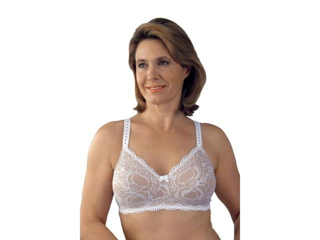 Classique 779 Post Mastectomy Fashion Bra-White/Skin-40B