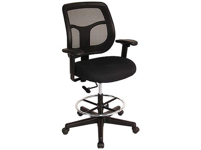 Eurotech Mesh Back Drafting Stool Apollo Dft9800 Black