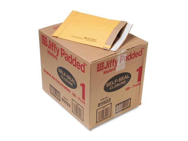 """SEL85922 Padded Mailers, Self-Seal Bulk, 7-1/4""""x12"""", 100/CT, Kraft"""