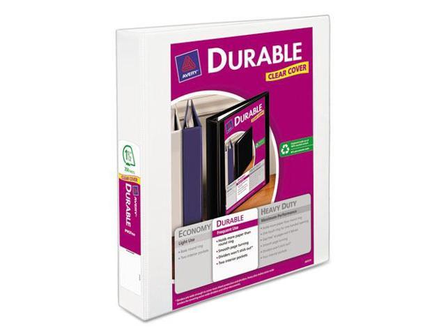 Avery Consumer Products AVE17022 Durable View Binder- 1-.50in. Cap- 11in.x8-.50in.- White