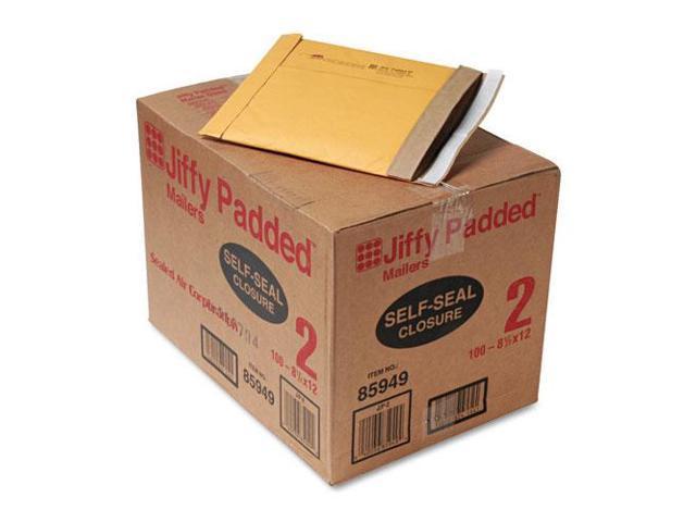 """SEL85949 Padded Mailers, Self-Seal Bulk, 8-1/2""""x12"""", 100/CT, Kraft"""