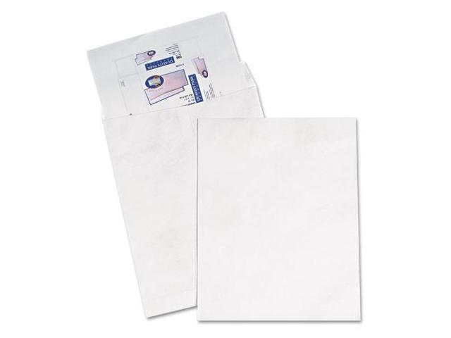 Quality Park Products QUAR5106 Tyvek Open-End Jumbo Mailers- Plain- 14-.25in.x20in.- White