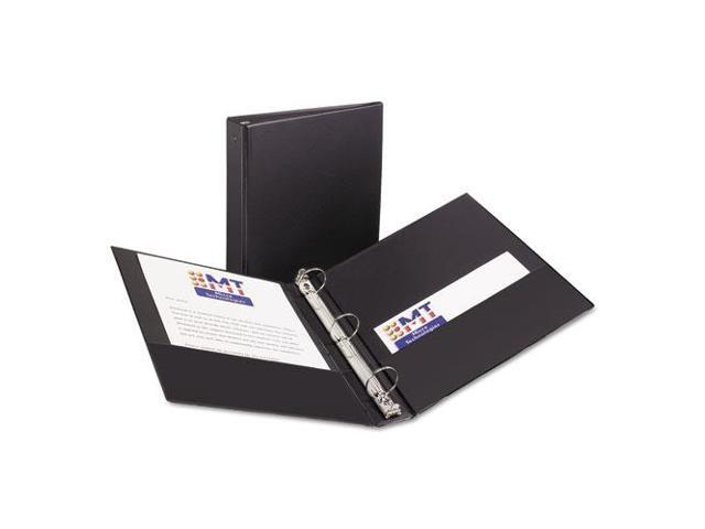 Avery Consumer Products AVE03401 Economy Ring Binder- 1-.50in. Capacity- 11in.x8-.50in.- Black