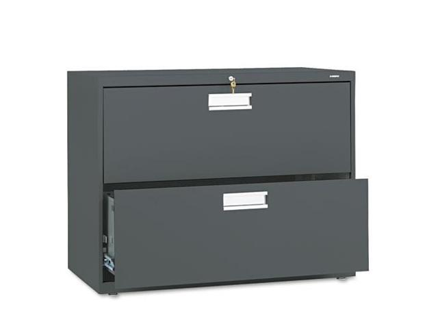 "HON682LS 2 Drawer Lateral File, W/Lock, 36""x19-1/4""x28-3/8"", Charcoal"