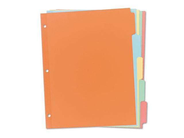 """Non-Laminated Tab Dividers,5-Tab,11""""x8-1/2"""",36 ST/BX,Multi AVE11508"""