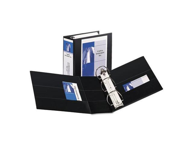 """Durable View Binder With Two Booster Ezd Rings, 5"""" Capacity, Black"""