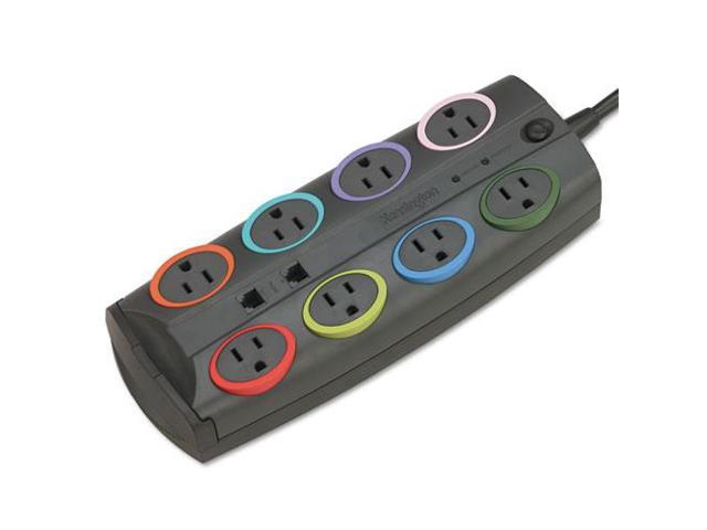 KMW62691 Socket Adapter, 3090 Joules, 8 Outlets, 8' Cord, Gray