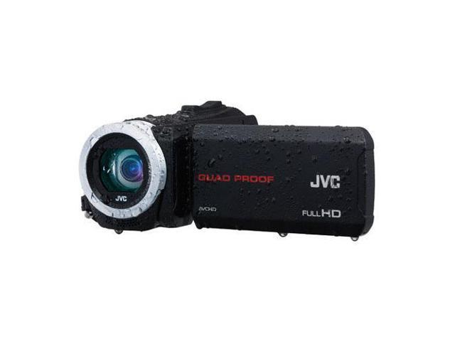 JVC Everio GZ-R10 Quad-Proof Full HD Camcorder, Black #GZ-R10B