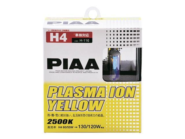PIAA 13504 PIAA H4 9003 / HB2 Plasma Ion Yellow 60/55W-130/120W Bulb-Twin Pack