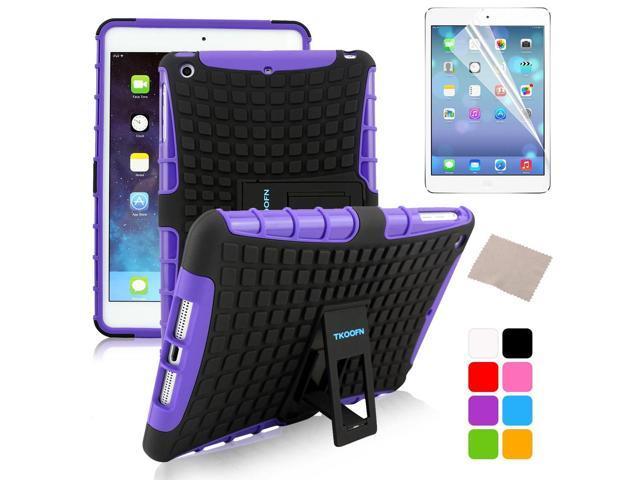BESDATA Purple Hybrid Heavy Duty Case Cover Stand for Apple iPad Mini 1 1st Gen  +Stylus Film