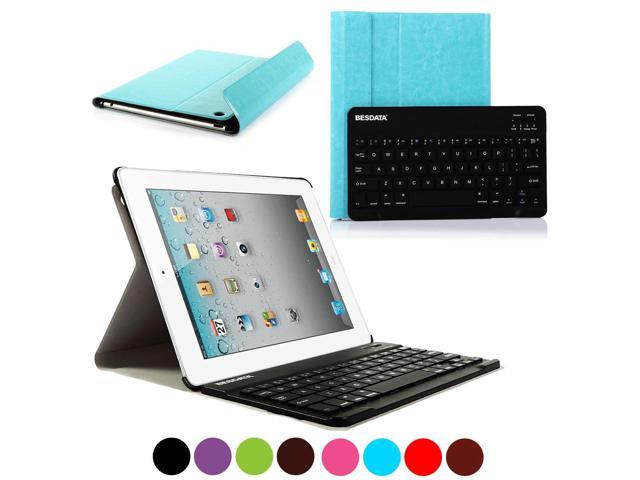BESDATA 2014 Newly Design Ultra Thin PU Leather Case Smart Cover Combine Wireless Bluetooth Keyboard For Apple iPad 2/3/4 ...