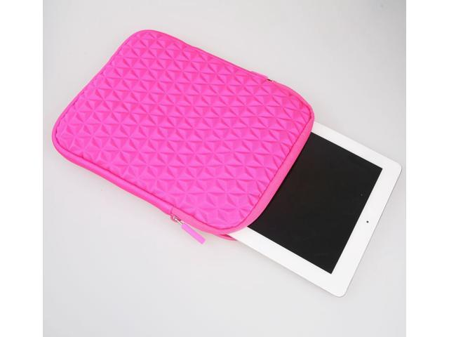 Jntworld Soft Valvet Protective Carrying Case for Apple Ipad 2 3 4 5 Mini (hot pink (pattern A))