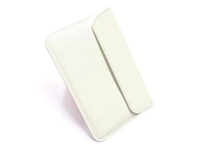 """Jnt white  High Quality Leather Sleeve Pouch Case with for Apple 7.87 """" Ipad Mini (Perfect Fit) (Slim Design)"""