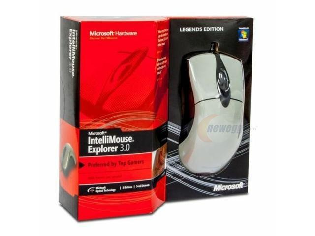 Microsoft IntelliMouse Explorer 3.0 USB Gaming Mouse - Legends Edition White
