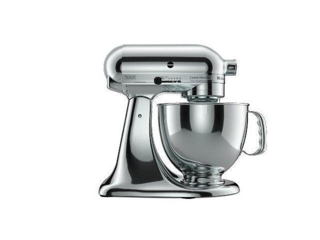 KitchenAid KSM152PSCR Custom Metallic Series 5-Quart Tilt-Head Stand Mixer Chrome