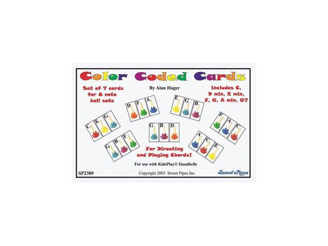 Rhythm Band Handbell Cards, 7-Chords, 8-Bells