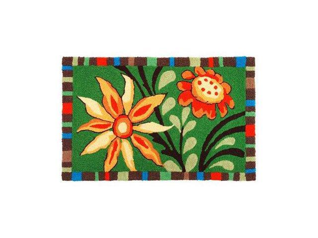 Colorful Summer Buds Red Yellow Floral Area Rug Newegg Com