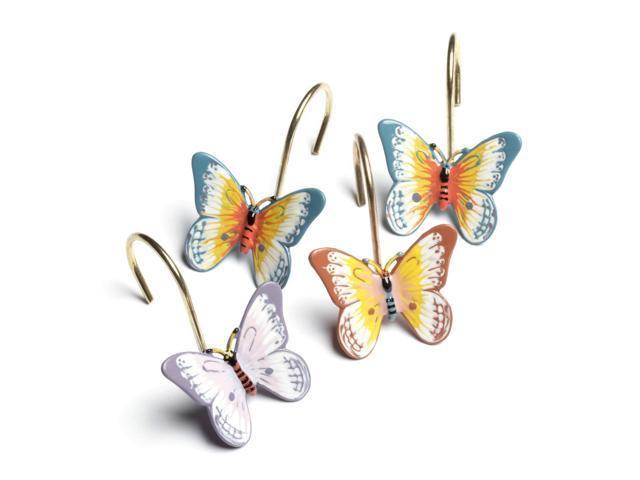 Lenox Butterfly Meadow Set Of 12 Shower Curtain Hooks