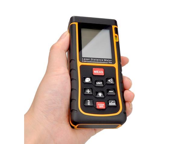 RZ-E70 70M 229FT 70m/229ft Mini Digital Laser Distance Meter Tester Range Finder Measure Diastimeter  Features:  High accuracy and wide measuring range up to 70m. Quick measurement of distance, area a