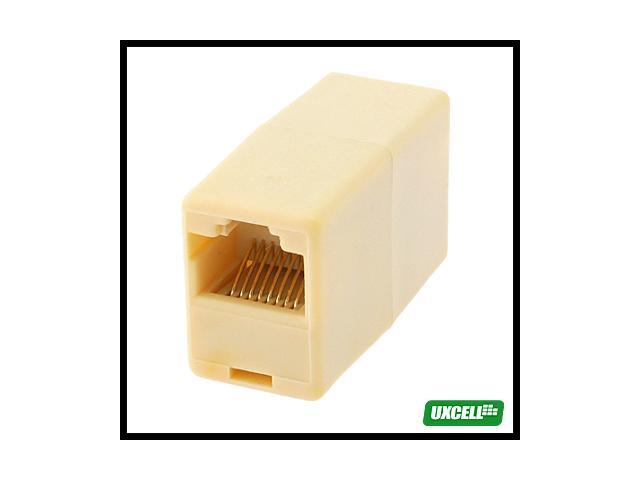 Gold Tone Pin RJ45 CAT Network Cable 5 Plug Connector Joiner