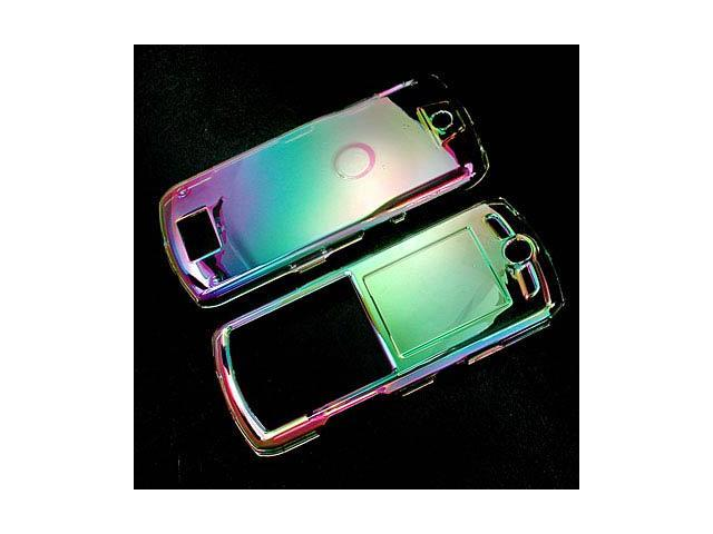 Rainbow Reflective Clear Plastic Case for Motorola L7