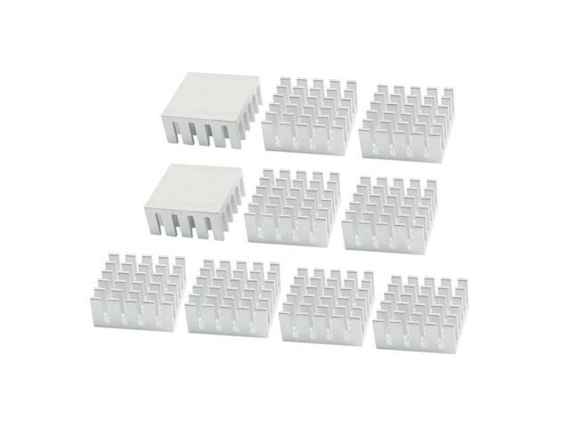 Unique Bargains 10PCS Aluminum Heatsink Cooling Fin 22mm x 22mm x 10mm for CPU RAM