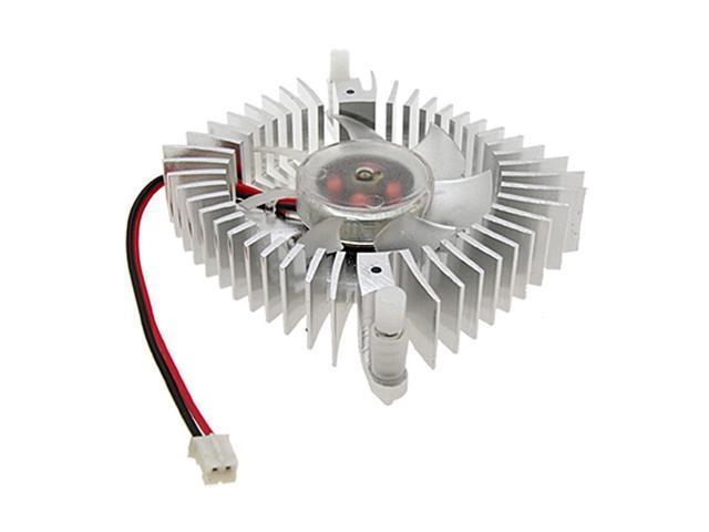 VGA Video Card Aluminium Heatsink Cooler Cooling Fan 2 Pin 70mm 7cm for PC