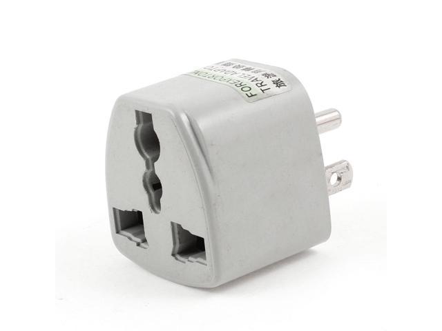AC 250V 3 Pin US Jack Travel Adapter Converter Gray for AU EU UK Plug