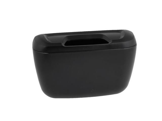 car interior black plastic trash bin garbage box container w hook. Black Bedroom Furniture Sets. Home Design Ideas
