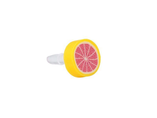 Red Fruit Orange 3.5mm Anti Dust Earphone Ear Cap Plug for Smartphone MP4