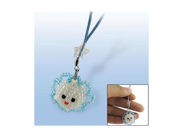 Sunflower Shaped Plastic Beads Mobile Phone Charm Strap