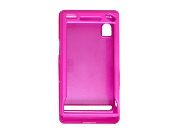 Amaranth Pink Rubberized Case Cover for Motorola A855
