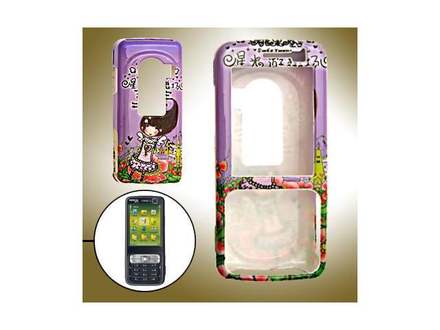 Girl Cover Hard Case Skin for Cell phone Nokia N73