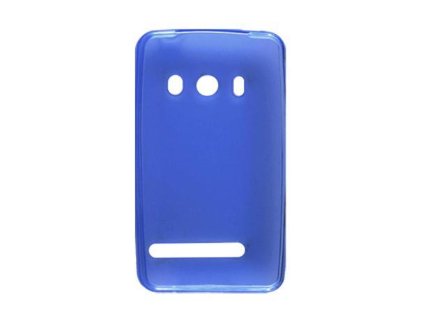 Blue Anti-glare Soft Plastic Case Shell for HTC EVO 4G
