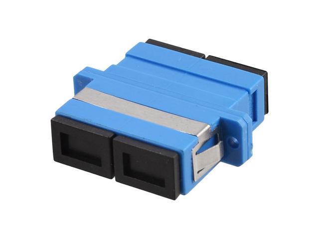 Sc sm duplex flange fiber optical connector adapter
