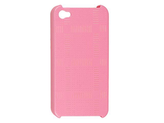 Pink Hard Plastic Dots Stripe Design Back Shell for iPhone 4S