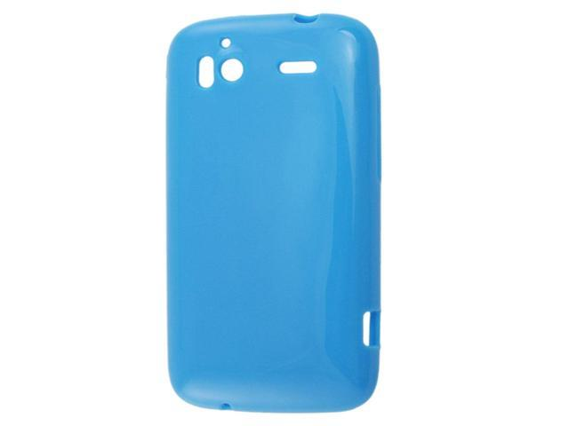 Blue Soft Plastic Cover Case for HTC Sensation 4G G14 Pwjze