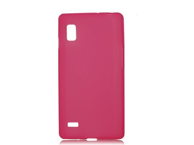 Red Smooth Surface Soft Plastic Guard for LG P760 Optimus L9