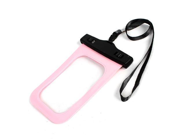 Surfing Swimming Plastic Waterproof Case Pouch Pink for Phone Mp4