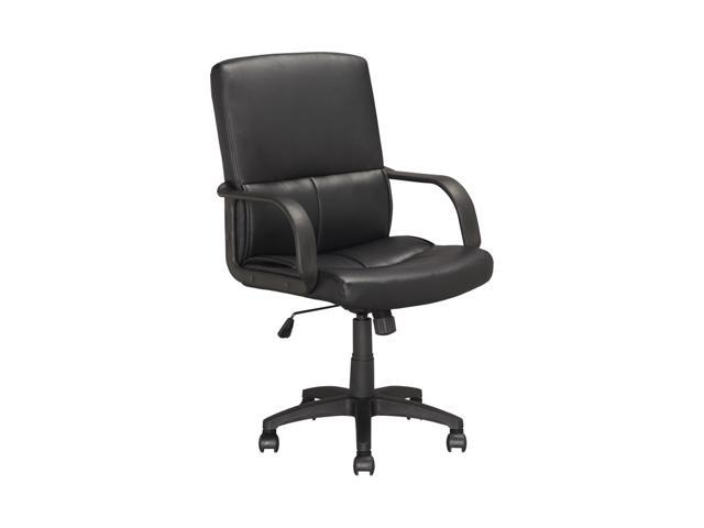 CorLiving LOF-308-O Executive Office Chair in Black Leatherette