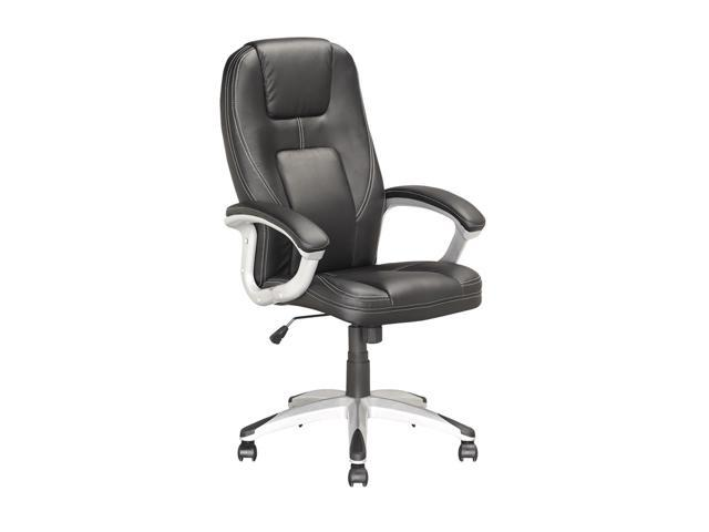 CorLiving LOF-808-O Executive Office Chair in Black Leatherette