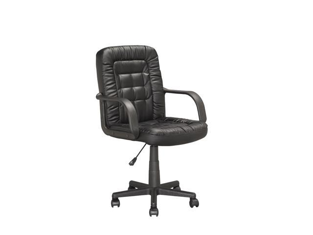 CorLiving LOF-708-O Executive Office Chair in Black Leatherette