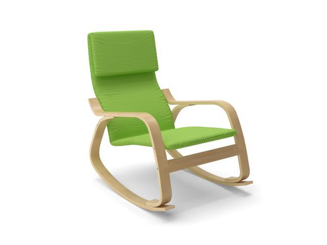 CorLiving LAQ-635-C Aquios Bentwood Contemporary Rocking Chair in Apple Green