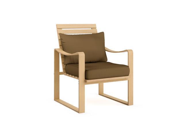 CorLiving LCQ-827-C Aquios Bentwood Armchair in Warm Brown