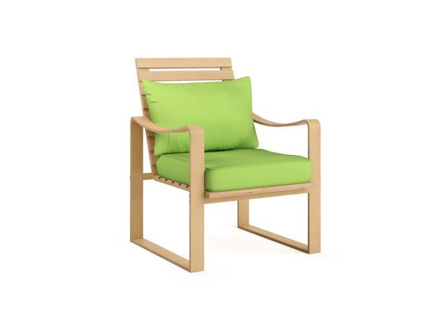 CorLiving LCQ-837-C Aquios Bentwood Armchair in Apple Green