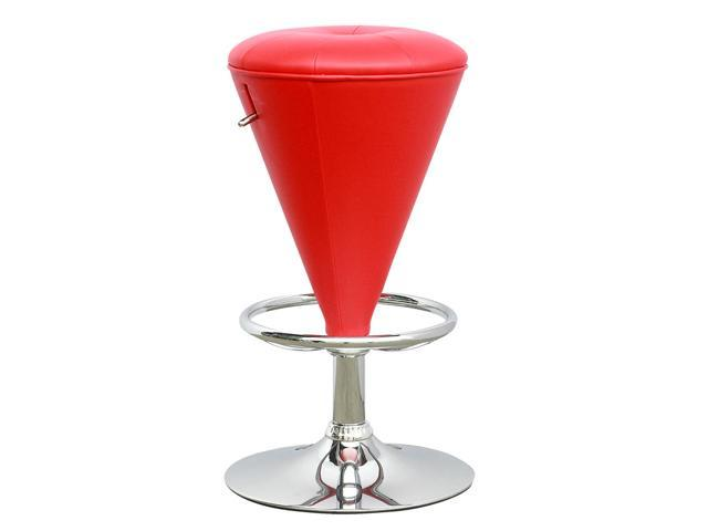CorLiving DPU-555-B Cone Shaped Adjustable Barstool in Red Leatherette