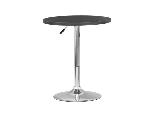CorLiving DAW-500-T Adjustable Height Round Wooden Table in Black
