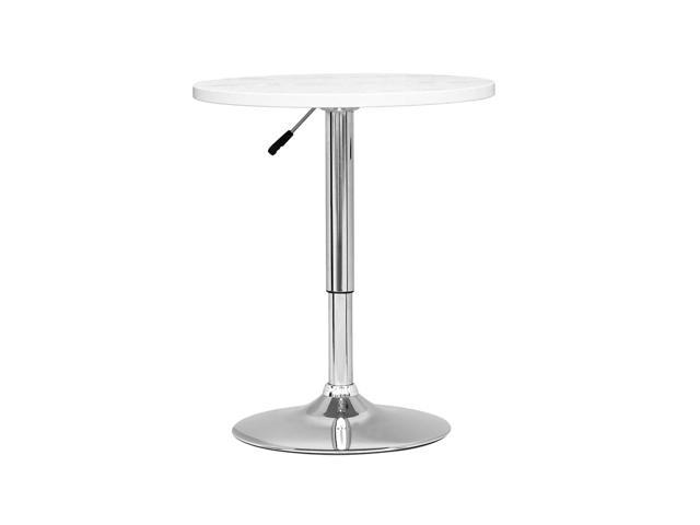 CorLiving DAW-510-T Adjustable Height Round Wooden Table in White