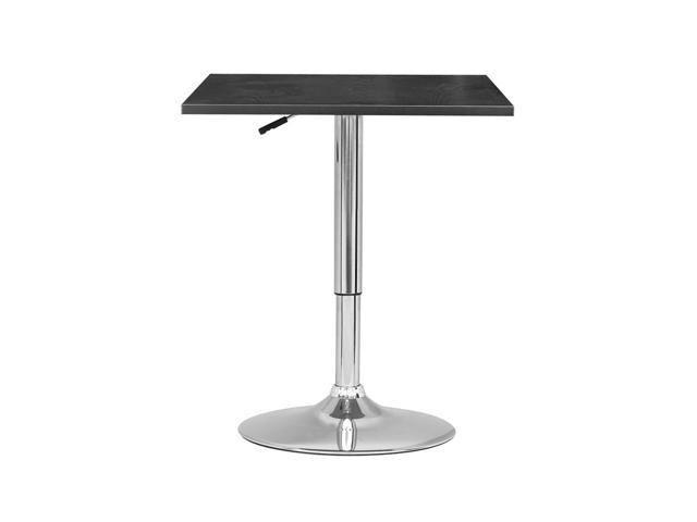 CorLiving DAW-600-T Adjustable Height Square Wooden Table in Black